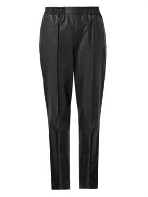 Bi-colour leather track pants
