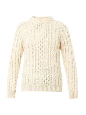 The Aran-knit wool sweater
