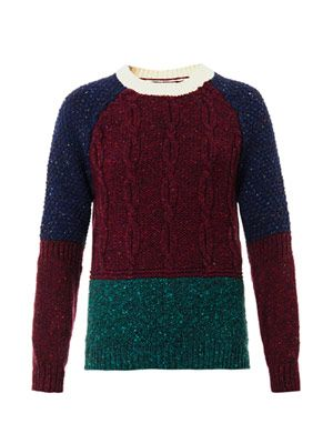 The Donegal tweed patchwork sweater