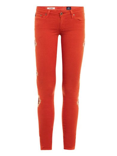 Ag Santa Fe low-rise skinny jeans