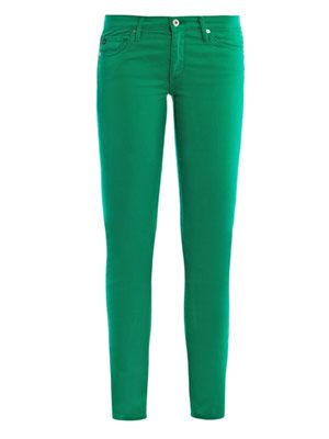 Stilt low-rise cigarette-leg jeans