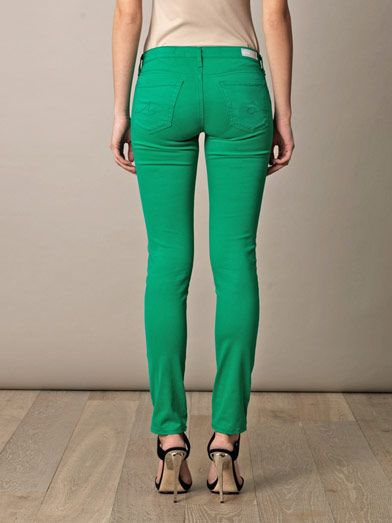 Ag Stilt low-rise cigarette-leg jeans