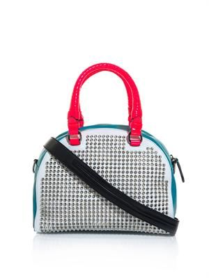 Panettone studded leather bag