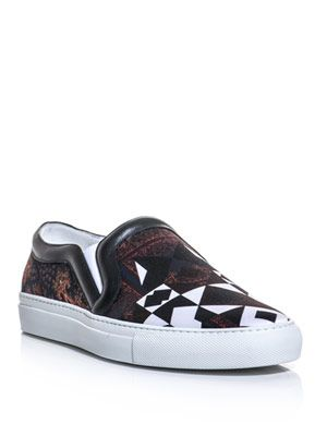 Scarf print skater shoes