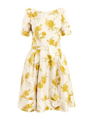 Oriental bloom-print dress