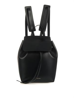Mini vegetable-tanned leather backpack