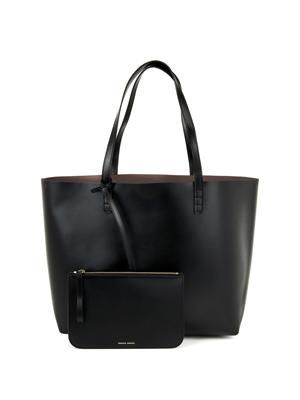 Large vegetable-tanned leather tote