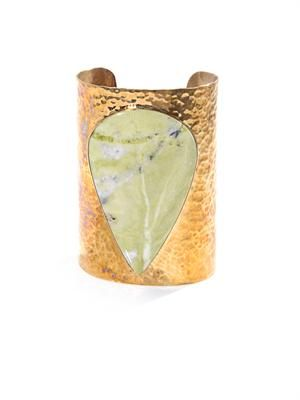 Lemon Jasper & brass cuff