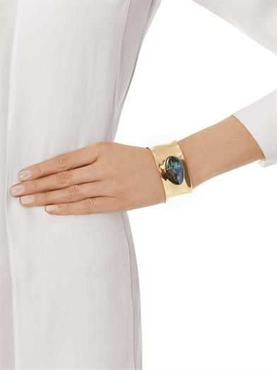 Jody Candrian Opal stone & brass cuff