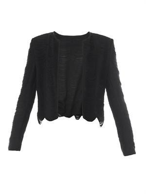 Fringe long-sleeved jacket