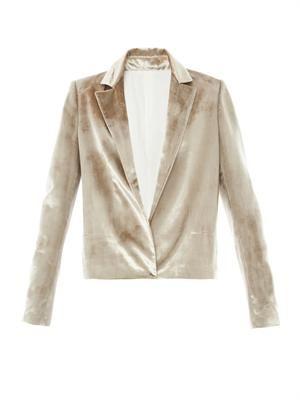 Notch-lapel velvet  jacket