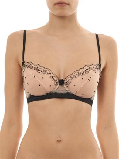 Morgan Lane Sophie embroidered tulle bra