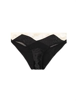 Scarlett bi-colour silk charmeuse briefs