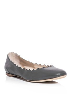 Scalloped-edge flats