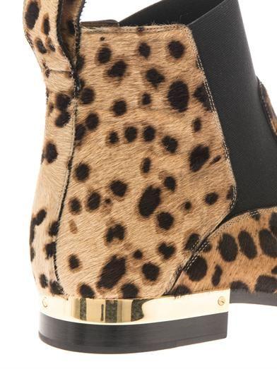 Chloé Leopard-print calf-hair ankle boots