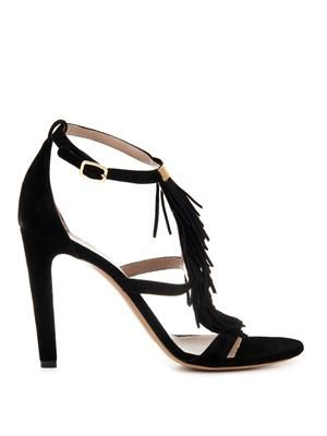 Daniella fringed suede kidskin sandals