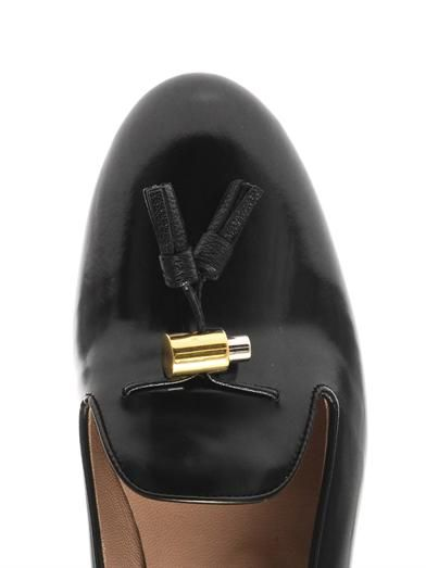Chloé High-shine leather tassel loafers