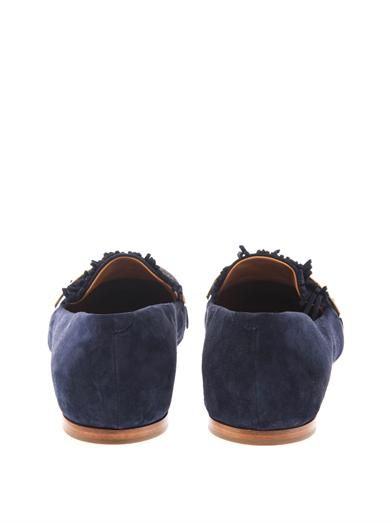 Chloé Fringed suede loafers