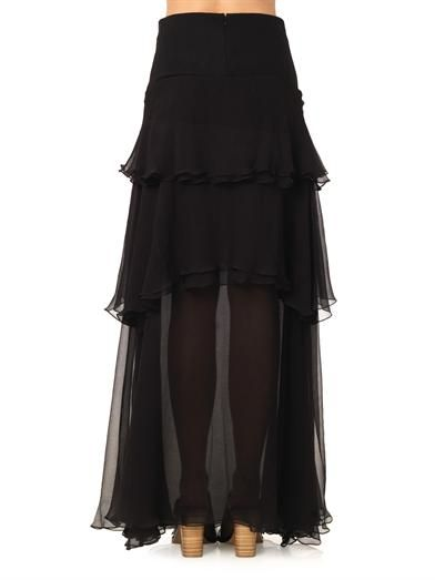 Chloé Tiered silk-mousseline skirt