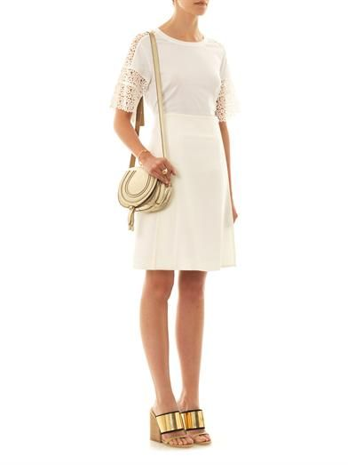Chloé Crepe A-line skirt