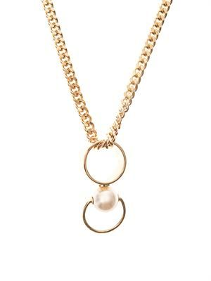 Darcey faux-pearl pendant necklace