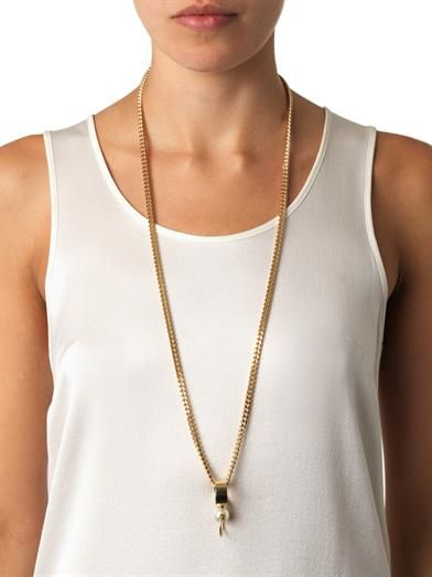 Chloé Darcey faux-pearl pendant necklace
