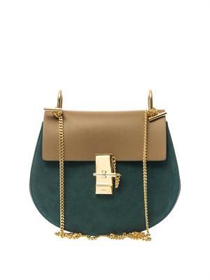 Drew suede shoulder bag