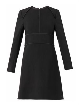 Tailoring wool shift dress