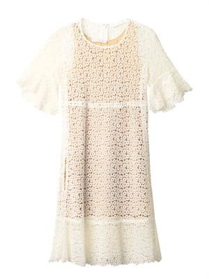 Ring guipure lace dress