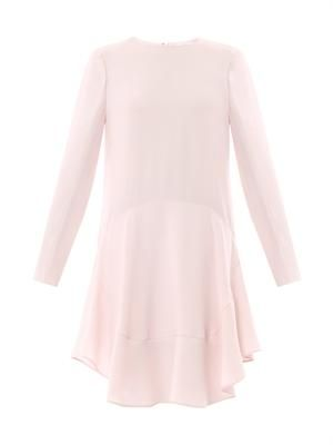 Ruffle-skirt shift dress