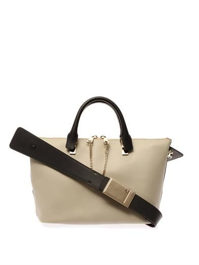 Chloé Baylee bi-colour leather tote