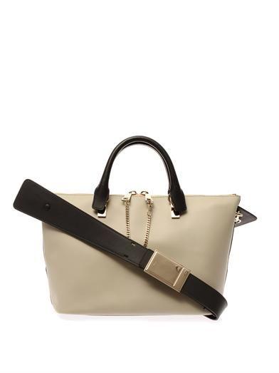 Chloé Baylee bi-colour leather tote