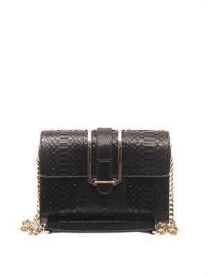 Bronte python shoulder bag