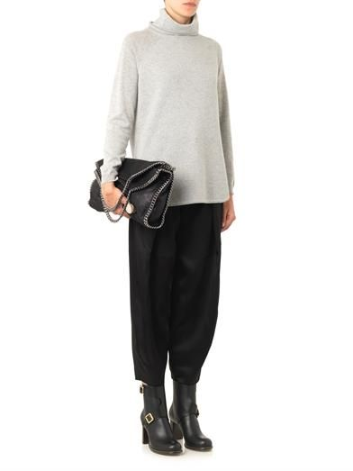 Chloé Satin and crepe trousers