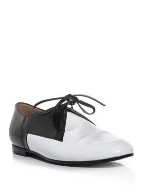 Bi-colour lace-up shoes