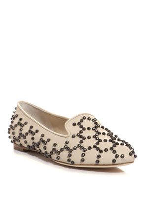 Honeycomb studded leather shoes