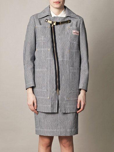 Altuzarra Gail striped gold detail coat