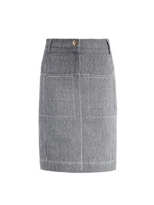 Monsoon striped pencil-skirt