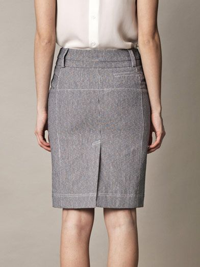 Altuzarra Monsoon striped pencil-skirt