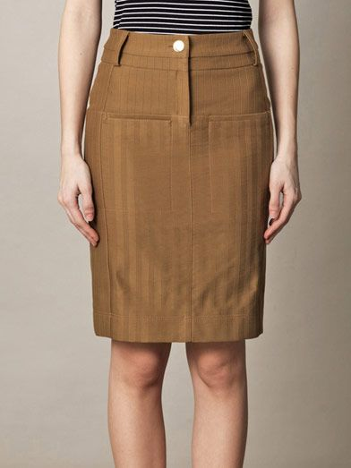 Altuzarra Monsoon striped jacquard pencil skirt