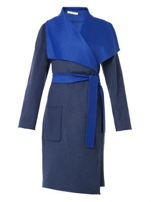 Chirico bi-colour wool-blend coat