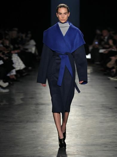 Altuzarra Chirico bi-colour wool-blend coat
