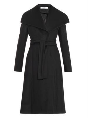 Virgin wool-blend tailored coat