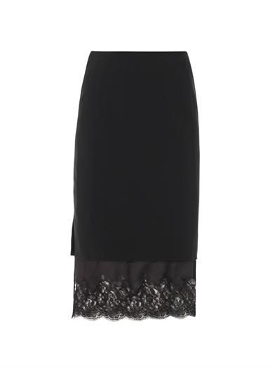 Altuzarra Lace hem pencil skirt