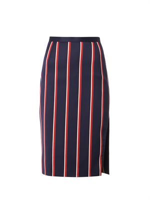 Faun striped pencil skirt