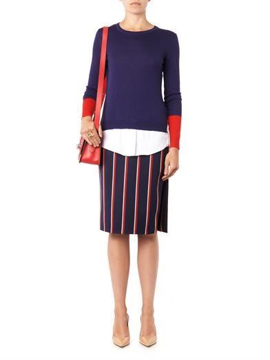Altuzarra Faun striped pencil skirt