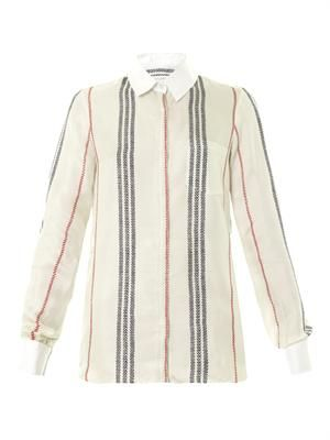 Chika striped silk shirt