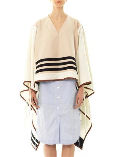 Altuzarra Ono pullover wool-blend cape