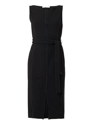 Naipaul double-faced wool crepe dress