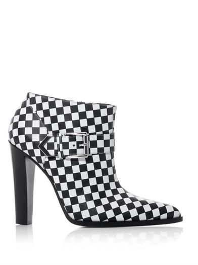 Altuzarra Check leather ankle boots